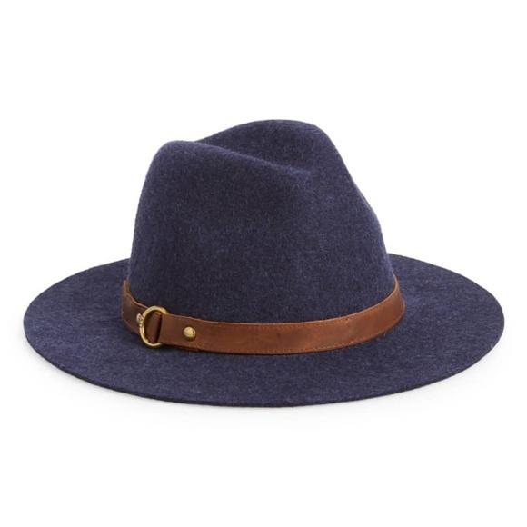 ceb02b6d20cdb NWT FRYE Harness Wool Felt Tall Crown Fedora Hat